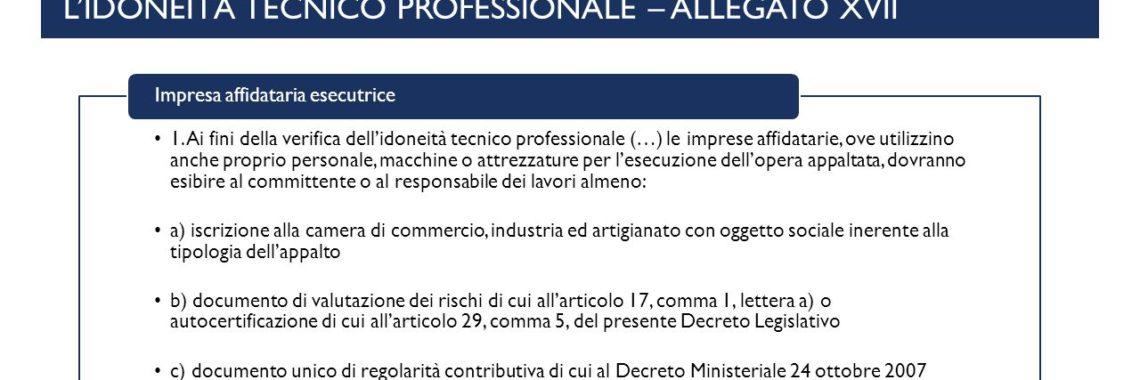 valutazione tecnico-professionale imprese