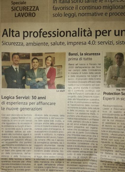 ARTICOLO SOLE 24 ORE LOGICA SERVIZI